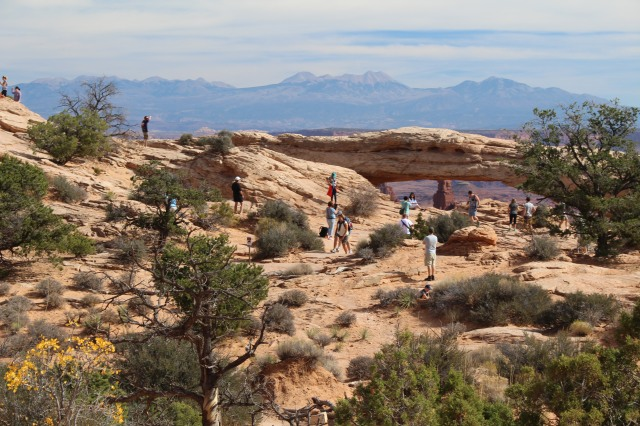 You have to wait your turn for a shot at Mesa Arch, but it's worth it!