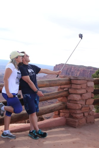 "Capturing the ""lows"" of Canyonlands -- a selfie with the canyons in the background!"