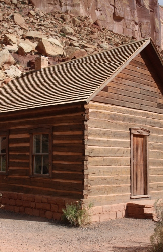The primitive schoolhouse in Historic Fruita