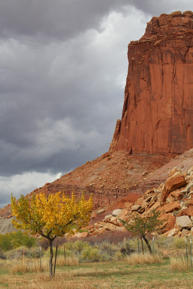 Storm brews over Capitol Reef.