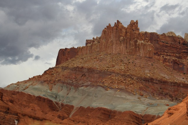 Striations in the rocks at Capitol Reef