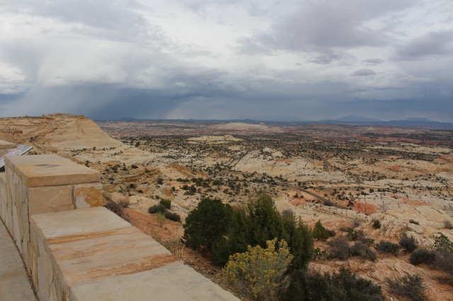 Standing at a jut-out along Utah Scenic Highway 12, you can see the ribbons of color and enormity of the area.