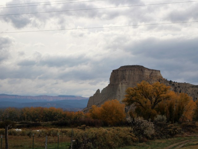 Dark clouds in the distance at Grand Staircase-Escalante National Monument.