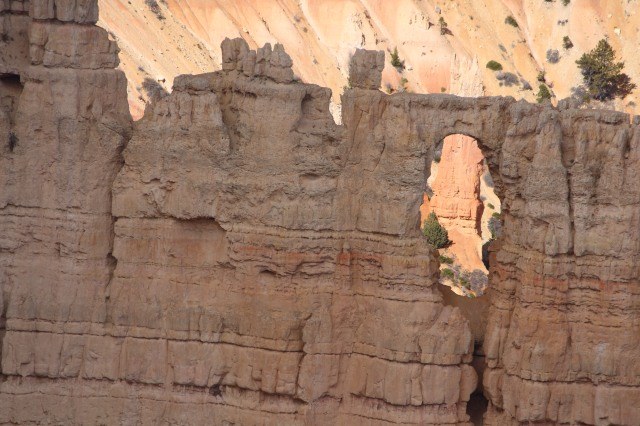 And so it goes -- wind and weather form holes that in turn form hoodoos.