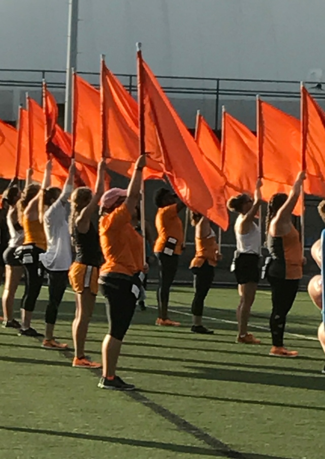 Upholding the colors: UT's Pride of the Southland flag corps