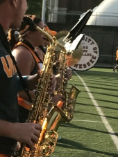 More shine as saxophones take to the field.