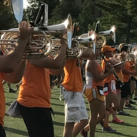 Weekly Photo Challenge:  Ooh, Shiny -- UT's Pride of the Southland Band