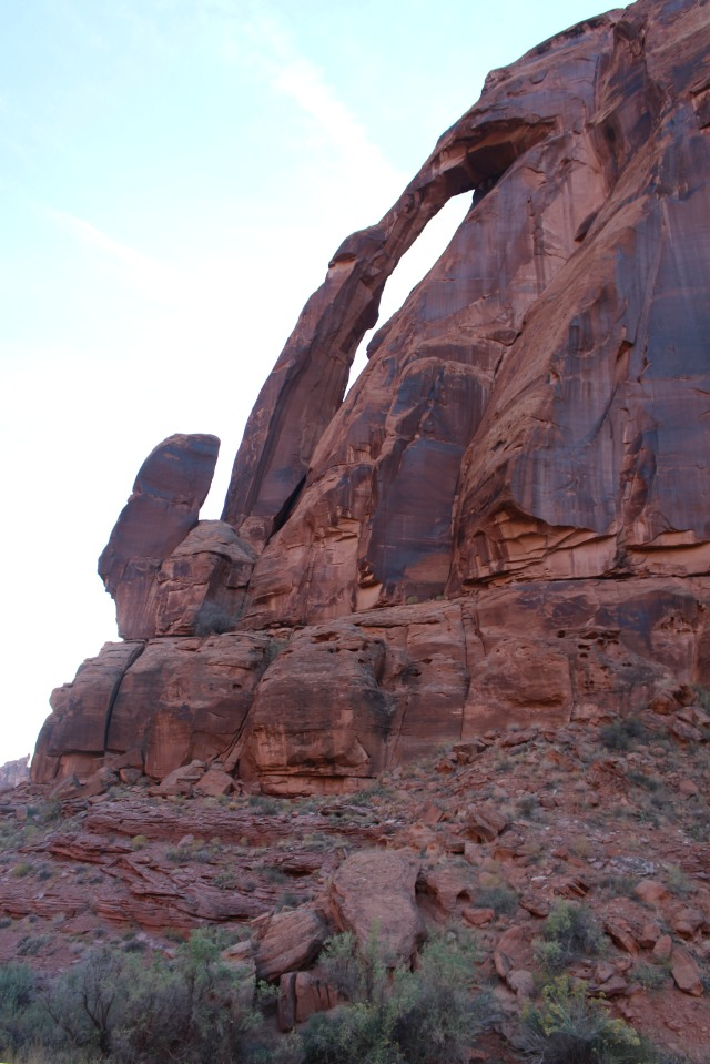View of Jug Handle Arch as seen from Potash Road, Utah 279.