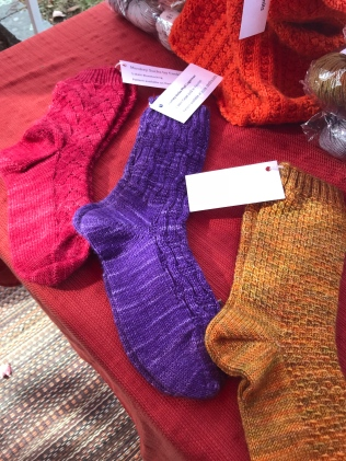 Socks knitted with wool from String Theory