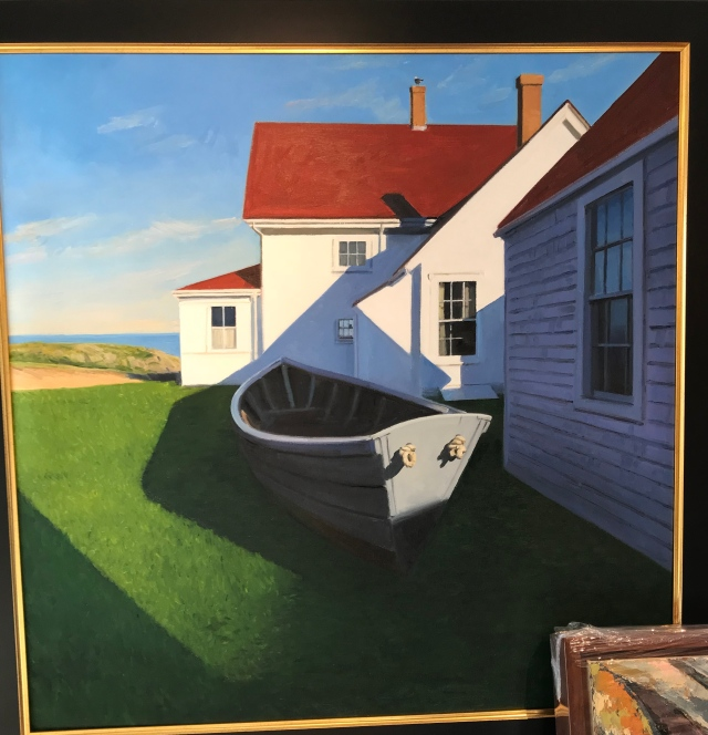 "Dory Geometry by Kevin Beers, oil 40"" by 40"""