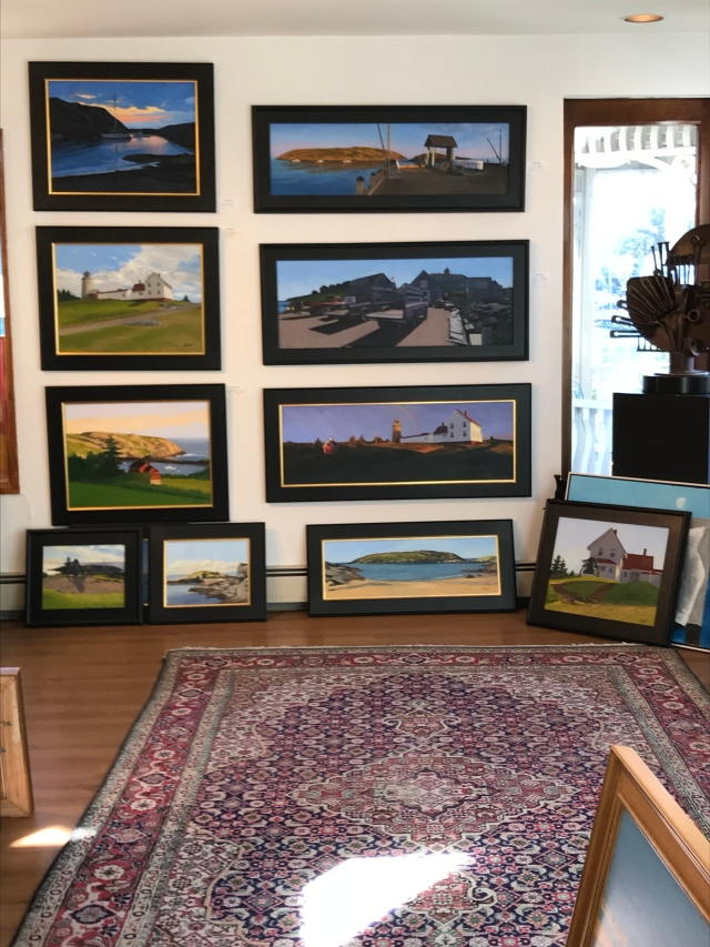 Art on display at Gleason Fine Art, Boothbay Harbor