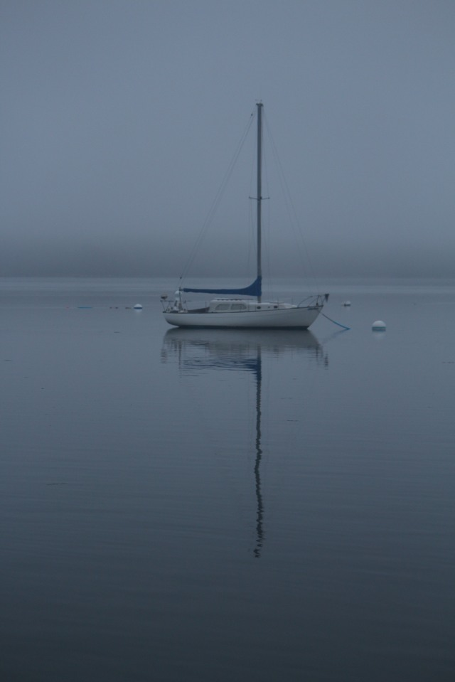 One lone boat in a reflective moment: Castine, Maine
