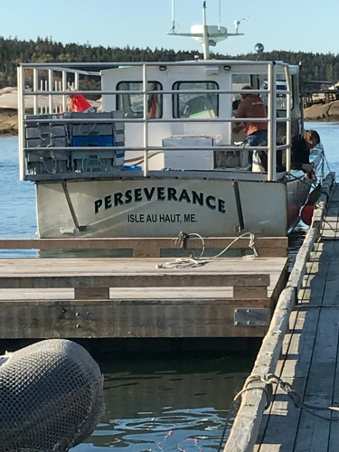 The Perseverance: Lobster boat from Isle au Haut, Maine