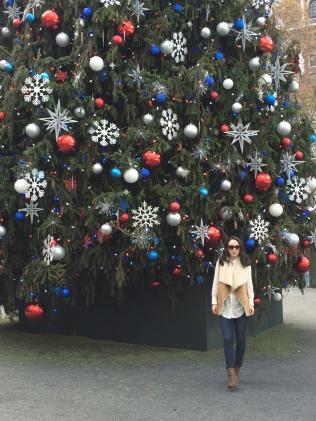 Posing in Rockefeller Center