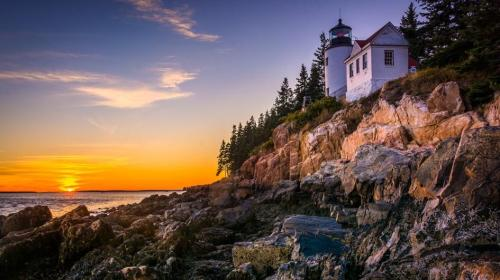 The shot we'd love to have:  Bass Harbor Light as seen on National Geographic Kids: https://kids.nationalgeographic.com/explore/nature/acadia/#Acadia-lighthouse.jpg