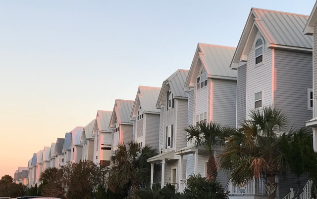 All in a row: cottages lined up in St. George Island