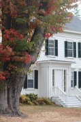 Built-out doorway welcomes guests in Castine, Maine