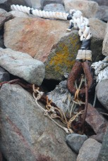 On the rocks at Monhegan Island, Maine