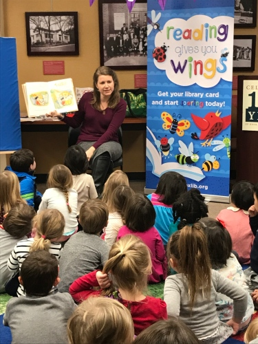 Celebrating Dolly Parton's birthday on January 19, this librarian at Lawson McGhee Library reads books from Imagination Library to kids at the party.