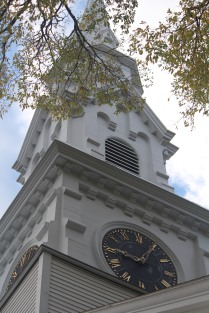 Reaching to the sky: churches and elm trees in Castine