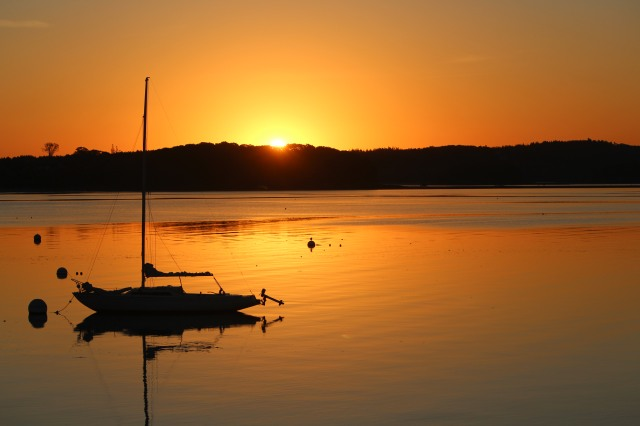 Sunrise: Castine Harbor.