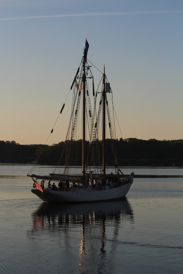 Sailing at sunset on the Penobscot Bay