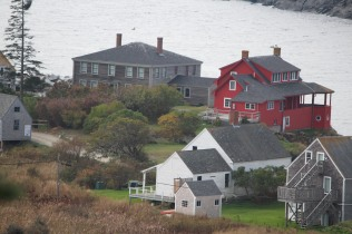 The red house as seen from lighthouse hill.