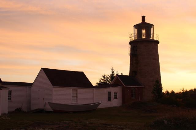 Catching the last rays of sun at Monhegan Island Light