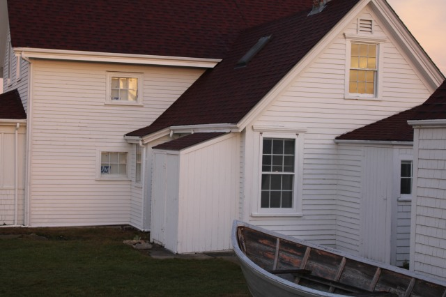 Greeting the sun: buildings at Monhegan Island Light