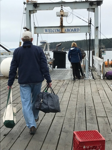 Boarding the Laura B bound for Monhegan