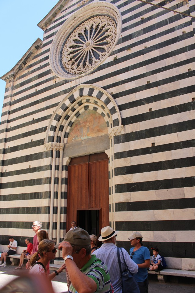 Distinctive entrance:  church in Cinque Terre