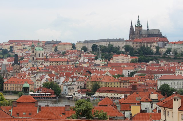 Prague's red clay roofs