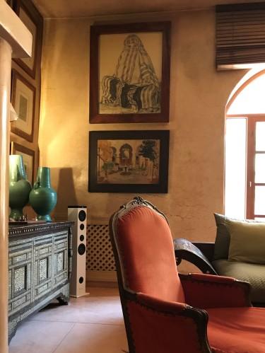 Gathering room at Jnane Tamsna