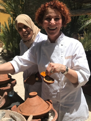 Chefs Joanne Weir and Bahija like what the see!