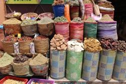 Bags of spices: Marrakech medina