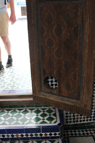 Cat door in Bahia Palace