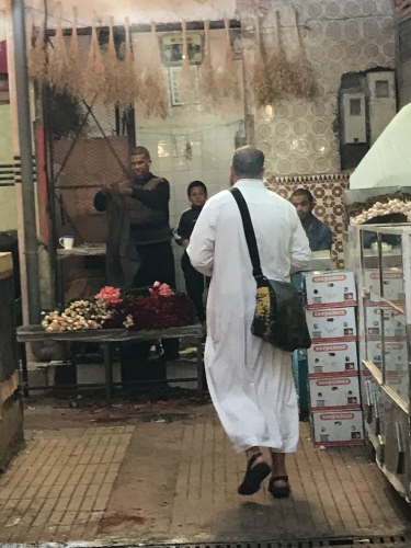 Shopping for fresh fish in the Marrakech medina