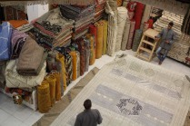 A huge room-size rug took our breath away with its detailed patterns and density of threads.