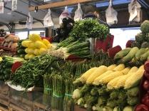 Veggies piled high at West Side Market, Cleveland, Ohio