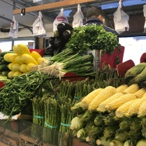 Veggies piled high at West Side Market, Cleveland, Ohio