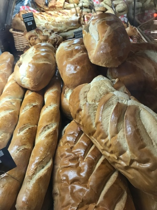 Loaves of freshly baked bread ready for buyers at West End Market.