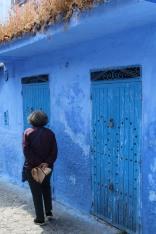 Patterned blue door: Chefchaouen