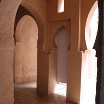 Doorways inside the Chefchaouen kasbah museum.