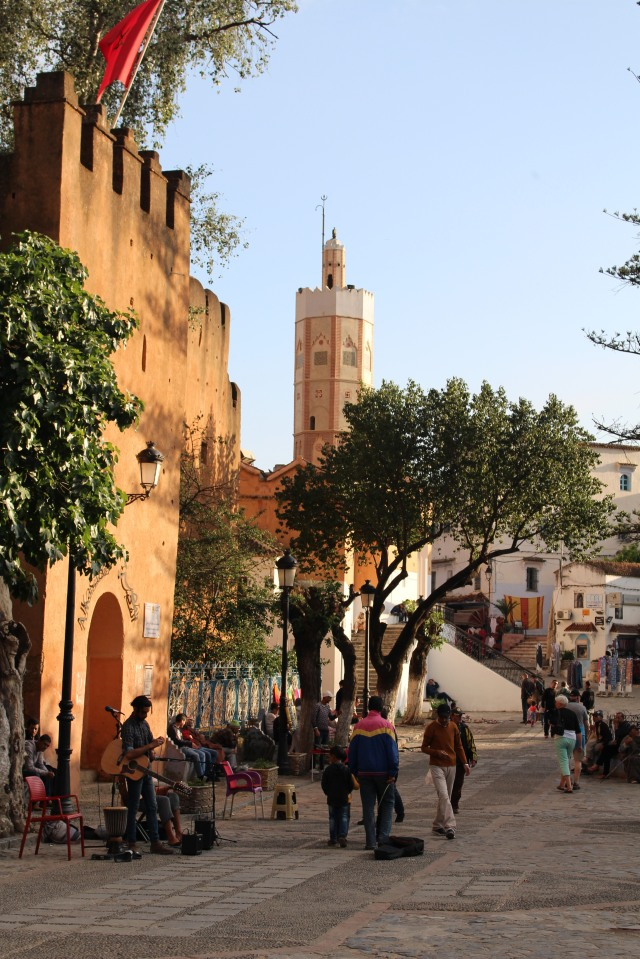 Alcazaba, the kasbah in Chefchaouen, opens off the town square.